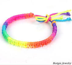 string cord bracelet images 6 mixed colors handmade weave rope string friendship bracelets jpg
