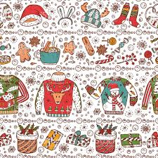ugly christmas sweater party vector xmas seamless pattern holiday