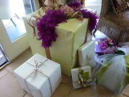Beautifully Wrapped Gifts - romancing the home may 2010