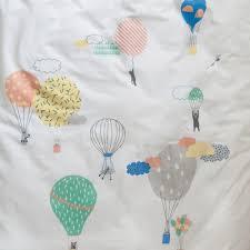 Cot Duvet Covers Air Balloon Duvet Set Boys And Girls Bedlinen 100 Cotton