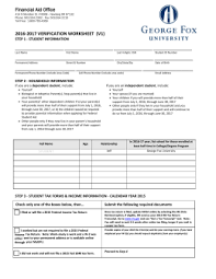 2015 u20132016 independent student household resources verification