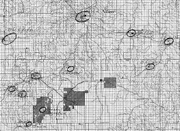Records Of The Bureau Of Indian Affairs Bia 21 Detail Of Map Of Lakota Communities Organized By The