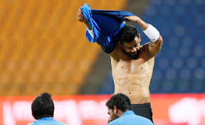 after decimating lankans virat kohli is back in the gym and he