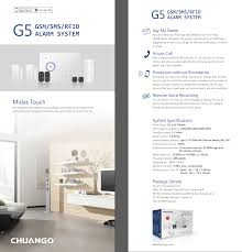 chu cg g5 chuango cg g5 wireless alarm system starter kit at