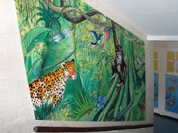 jungle and rainforest mural for primary school london jenny jungle and rainforest mural for primary school london