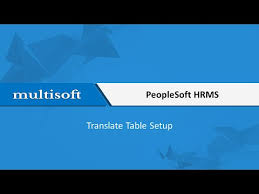 peoplesoft hrms tables list how to translate a table setup in peoplesoft hrms training video