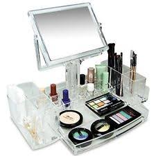 Acrylic Bathroom Accessories Ikee Design Acrylic Cosmetic Makeup Organizer With Two Sided