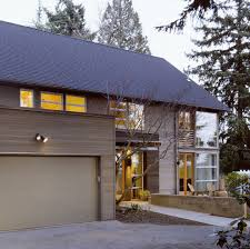 Painting Aluminum Garage Doors by New Modern House Exterior With Aluminum Garage Door Silver