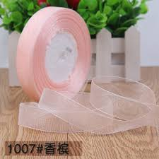ribbons wholesale 50 yards roll 3 4 20mm chagne pink organza ribbons wholesale