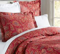 Red Duvet Set Red Duvet Charlie Paisley Organic Duvet Cover Sham Red Pottery