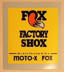 fox motocross stickers fox factory shox parts