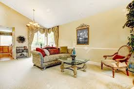 vaulted ceiling living room spacious ivory living room with high vaulted ceiling and carpet