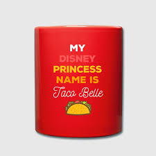 my disney princess name funny unique t shirt full color mug