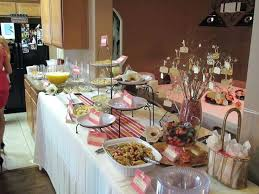 buffet table decor best ideas images on tables bridal shower food