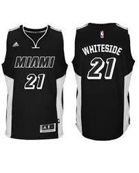hassan whiteside miami heat youth black tie swingman jersey