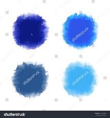 set blue tone water color drop stock vector 132504080 shutterstock