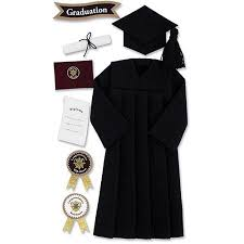 cap and gown jolee s seasonal stickers black graduation cap and gown walmart
