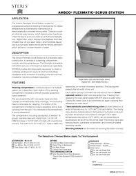 amsco flexmatic scrub station steris pdf catalogue technical