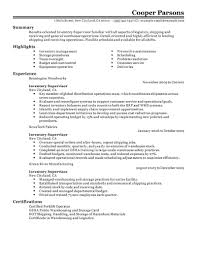 Warehouse Resume Template Best Inventory Supervisor Resume Example Livecareer