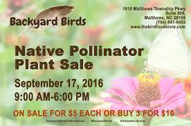 native pollinator plant sale at backyard birds u2013 backyard birds