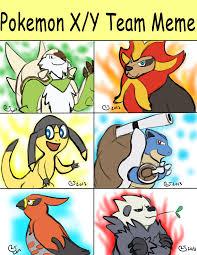 Pokemon Evolution Meme - my pokemon x y team meme by caseyljones on deviantart