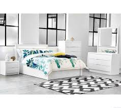 White High Gloss Bedroom Tallboy Rockhampton White Gloss Gaslift Bed
