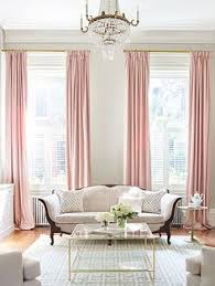 Beige And Pink Curtains Decorating Pink Gold Gray Living Room With White Linen Sofa Pink Curtains