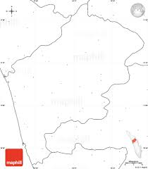 Blank India Map With State Boundaries by Blank Simple Map Of Malappuram No Labels