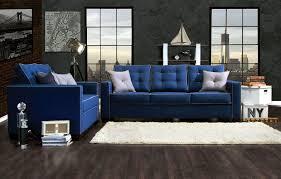 blue living room set pcs blue sofa set