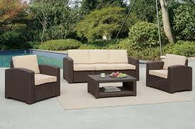 Outdoor Livingroom Poundex Lizkona 435 4 Pcs Outdoor Living Room Set
