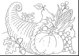 empty cornucopia basket coloring page simple thanksgiving