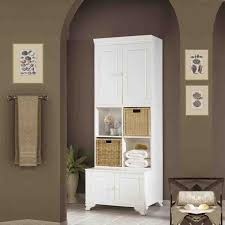 Bathroom Elegant White Storage Cabinet Optimizing Home Decor Ideas - Elegant white cabinet bathroom ideas house
