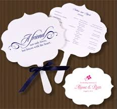 personalized wedding programs flourish program fans 25 pcs palm and bamboo fans