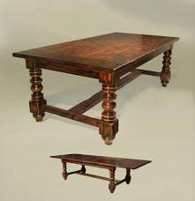 rustic old english style expandable dining table solid ash and oak