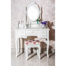 White Vanity Table With Drawers 7 Drawer Vanity Table With Chair Free Shipping Today Overstock