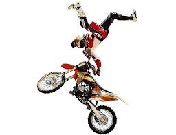motocross freestyle tricks dirt bikes bring a new type of horsepower to rodeo