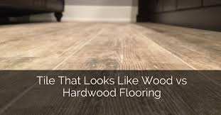 Hardwood Floors In Bathroom Tile That Looks Like Wood Vs Hardwood Flooring Home Remodeling