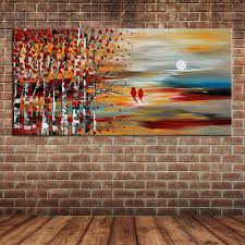 a winnie the pooh nursery muralpainting outside wall murals unframed modern landscape small forest trees and birds oil painting on canvas knife wall muralpainting outside