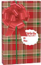 christmas plaid wrapping paper and black christmas buffalo plaid lumberjack