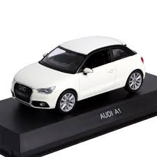 audi a1 model car 1 43 audi a1 amalfi white amazon co uk toys
