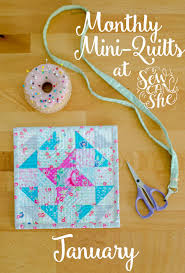 monthly mini quilts for january sewcanshe free sewing patterns