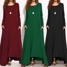 women u0027s plus full length casual long sleeve sleeve maxi dresses ebay
