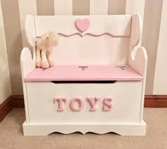 personalised childs girls monks bench toy box free delivery in
