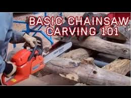 basic chainsaw carving 101 live with mitchell dillman youtube