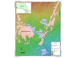Canada Map Coloured by Dem U2013 Whitebox Geospatial Analysis Tools