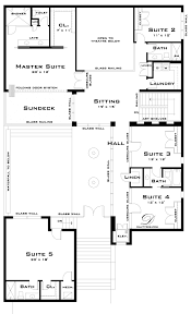 Courtyard Plans by Unique House Plans With Pools Plan Wrap Around Central Courtyard