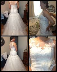 chagne wedding dress fitting keep the neckline or change to sweetheart