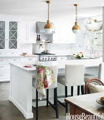 Classic White Kitchen Cabinets Mismatched Seating Gray Kitchens Kitchens And Classic White Kitchen