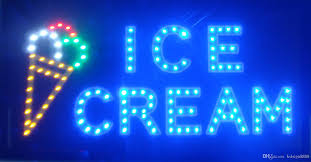 shop open sign lights led ice cream shop open sign 2016 sale manufacture 10x19 inch