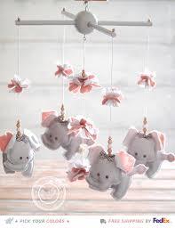 Gray Elephant Nursery Decor by Grey U0026 Pink Nursery Mobile Elephantpink And Gray Elephant